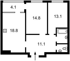 Квартира Сверстюка Евгения (Расковой Марины), 4 корпус 5, Киев, Z-768870 - Фото2