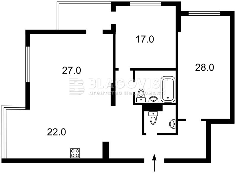 Квартира Z-754572, Голосеевский проспект (40-летия Октября просп.), 62, Киев - Фото 5