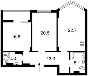 Квартира Вышгородская, 45, Киев, Z-778907 - Фото2