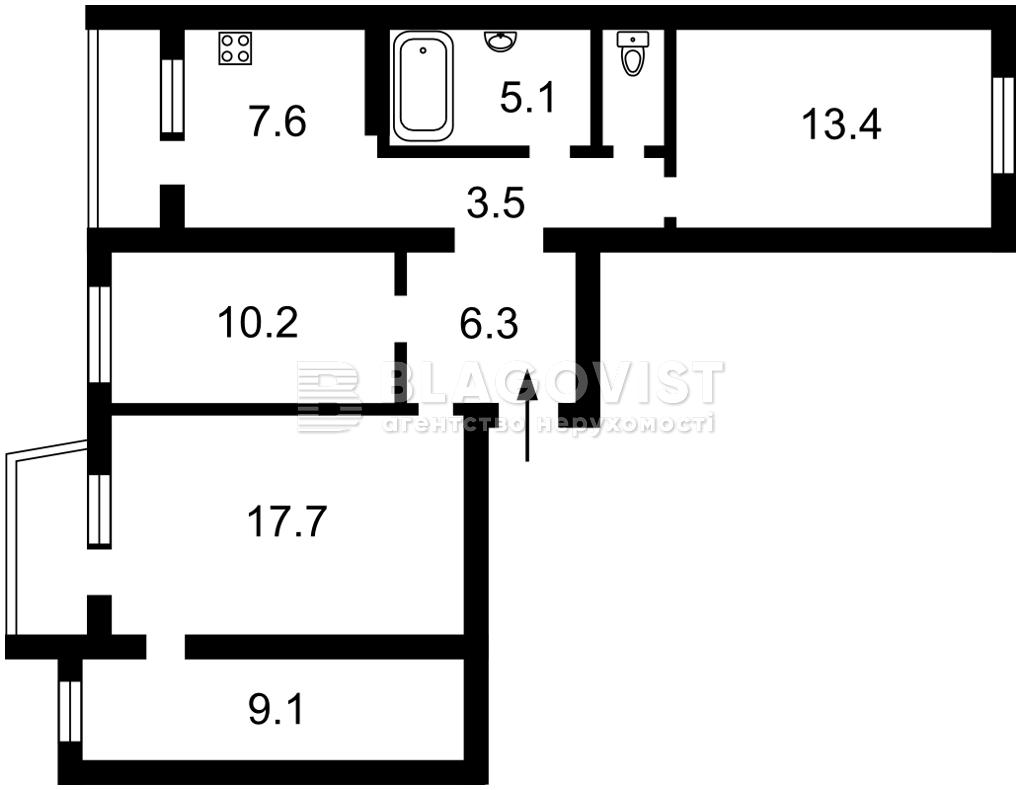 Квартира D-37190, Григоренко Петра просп., 39а, Киев - Фото 4