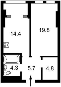 Квартира Победы просп., 11 корпус 1, Киев, Z-667696 - Фото2