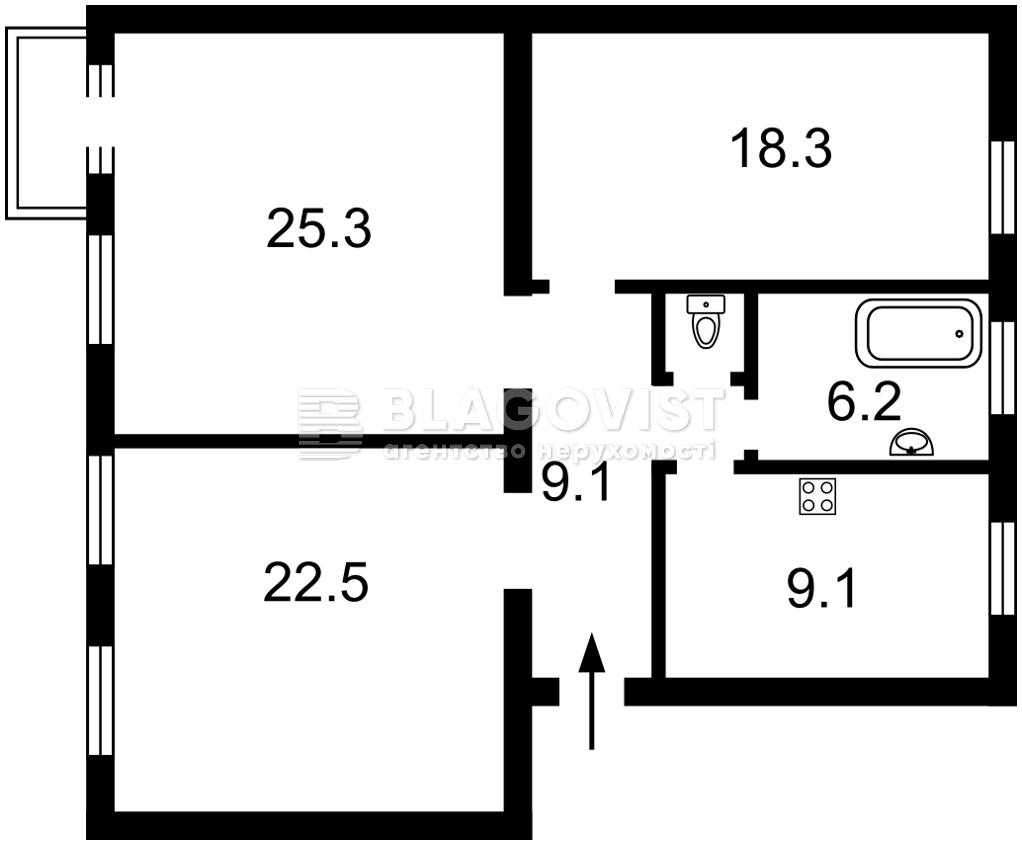 Квартира P-29595, Панаса Мирного, 2/44, Киев - Фото 5