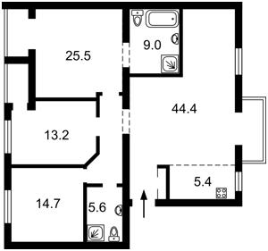 Квартира Липківського Василя (Урицького), 35а, Київ, R-38966 - Фото2