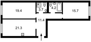 Квартира Тверской тупик, 7б, Киев, Z-778723 - Фото2