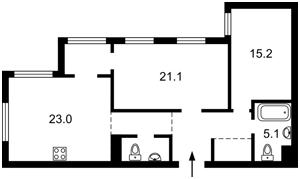 Квартира Правды просп., 13 корпус 9, Киев, Z-766574 - Фото2
