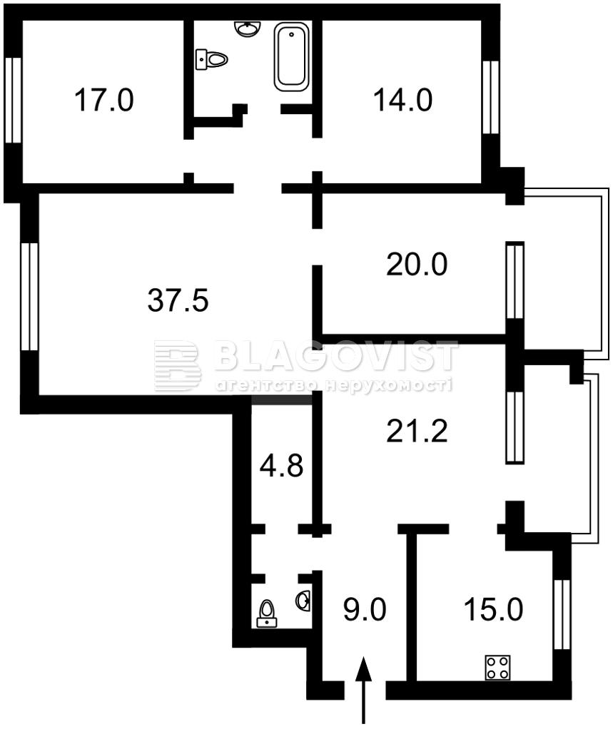 Квартира R-39212, Тургеневская, 52/58, Киев - Фото 2