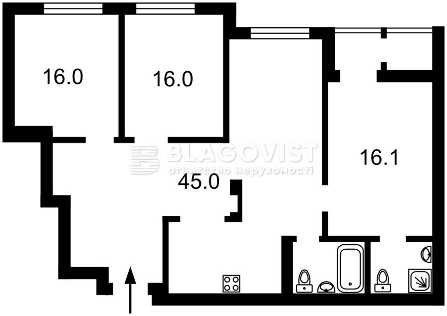 Квартира E-40830, Тверской тупик, 7б, Киев - Фото 7
