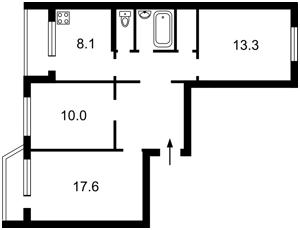 Квартира Маяковского Владимира просп., 67, Киев, P-29709 - Фото2