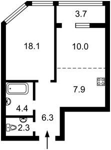 Квартира Берковецька, 6 корпус 3/1, Київ, Z-777106 - Фото2