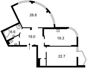 Квартира Липківського Василя (Урицького), 18, Київ, M-38986 - Фото2