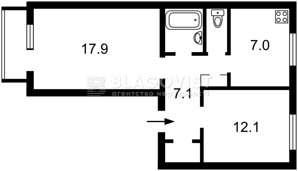 Квартира C-109447, Гончарова, 21, Киев - Фото 2