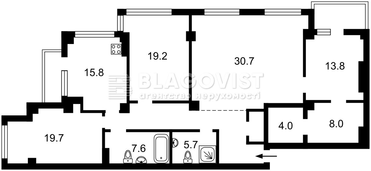 Квартира H-49817, Шумского Юрия, 1а, Киев - Фото 4