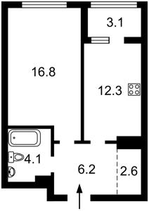 Квартира Заболотного Академика, 1 корпус 4, Киев, Z-768877 - Фото2