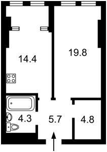 Квартира Победы просп., 11 корпус 2, Киев, Z-782765 - Фото2