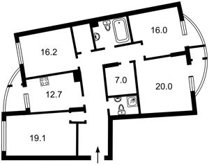 Квартира Днепровская наб., 25, Киев, Z-697204 - Фото2