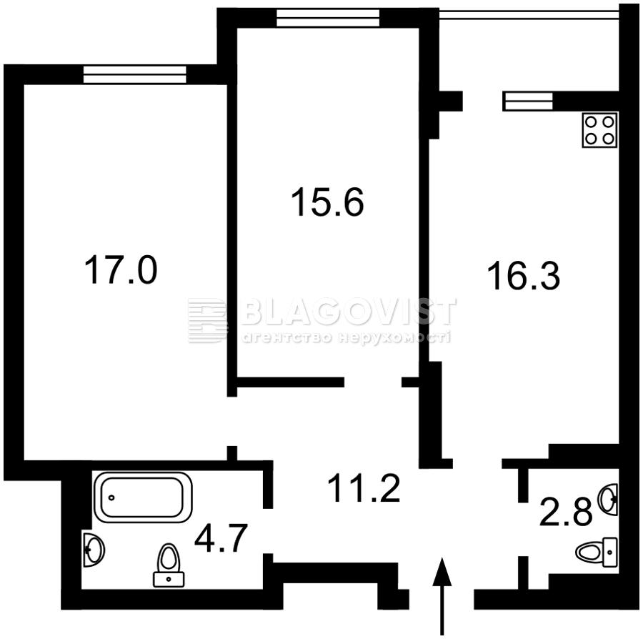 Квартира R-39548, Гавела Вацлава бульв. (Лепсе Ивана), 9а, Киев - Фото 4