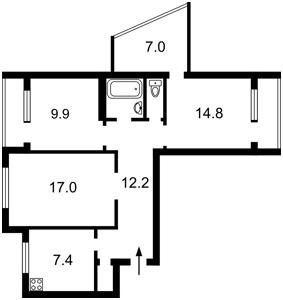 Квартира Бальзака Оноре де, 92, Киев, R-39563 - Фото2