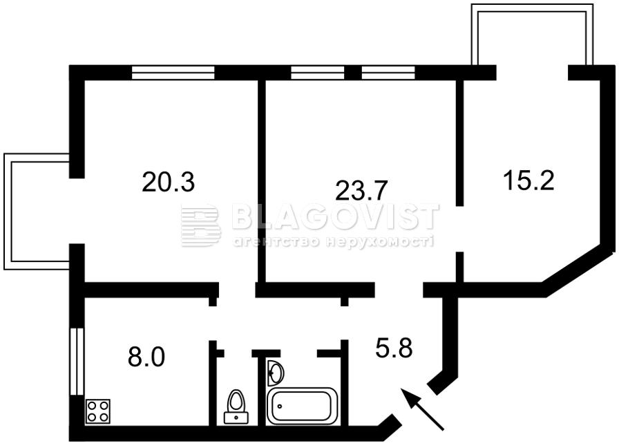 Квартира F-45060, Старокиевская, 27, Киев - Фото 3