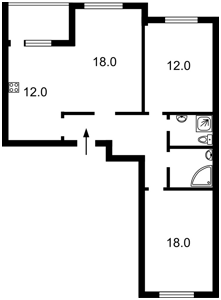 Квартира Балтійський пров., 23 корпус 3, Київ, Z-720467 - Фото2