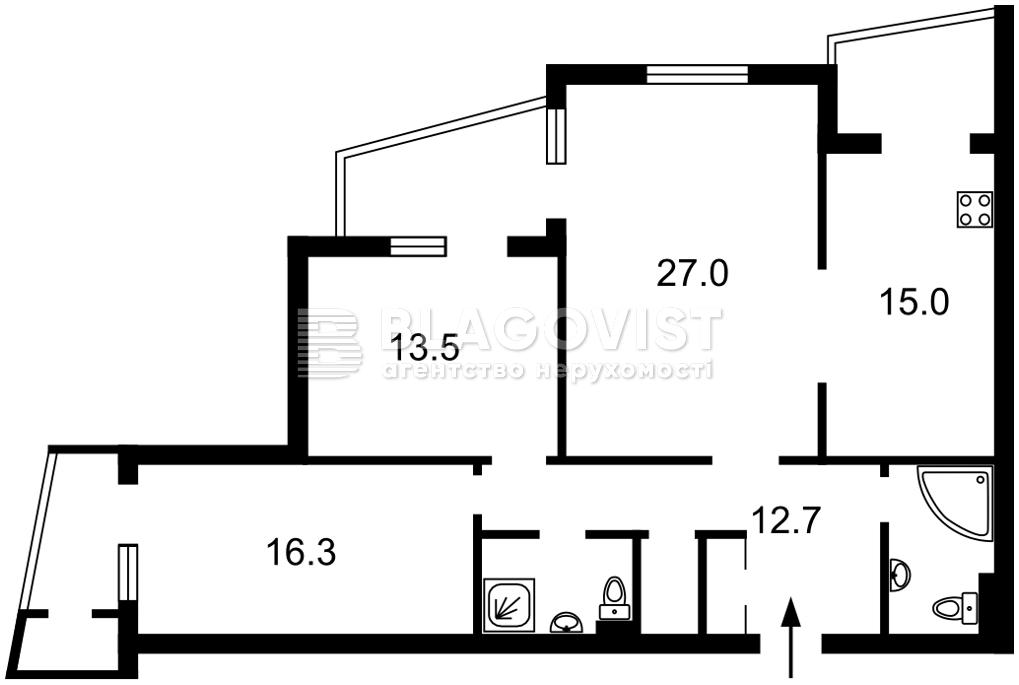 Квартира H-49754, Алма-Атинская, 37б, Киев - Фото 4