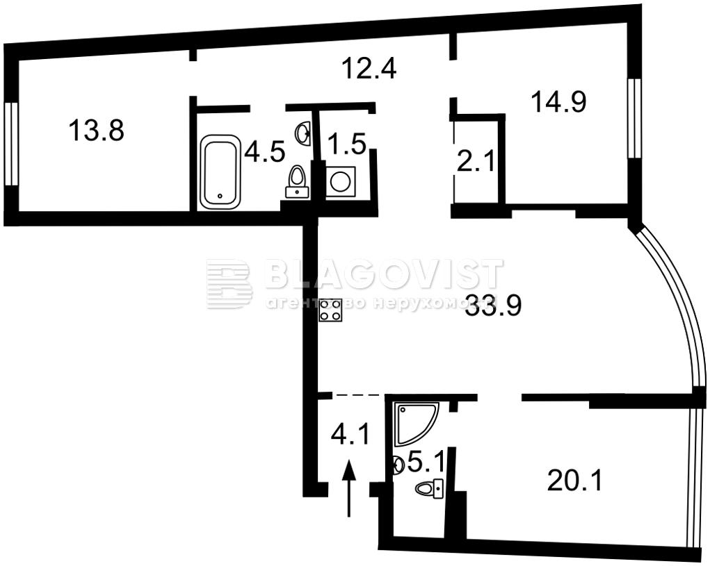 Квартира Z-783670, Днепровская наб., 19, Киев - Фото 4