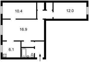 Квартира Преображенська (Клименка Івана), 39/8, Київ, Q-2637 - Фото2