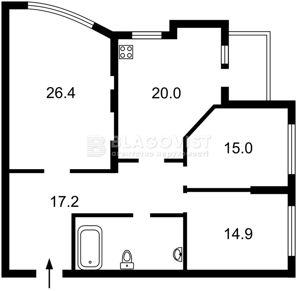 Квартира A-112418, Лобановского просп. (Краснозвездный просп.), 150г, Киев - Фото 5