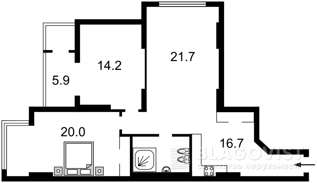 Квартира Z-640542, Днепровская наб., 1а, Киев - Фото 4
