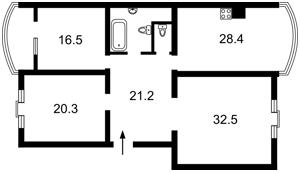 Квартира Оболонська набережна, 7, Київ, Z-788378 - Фото2