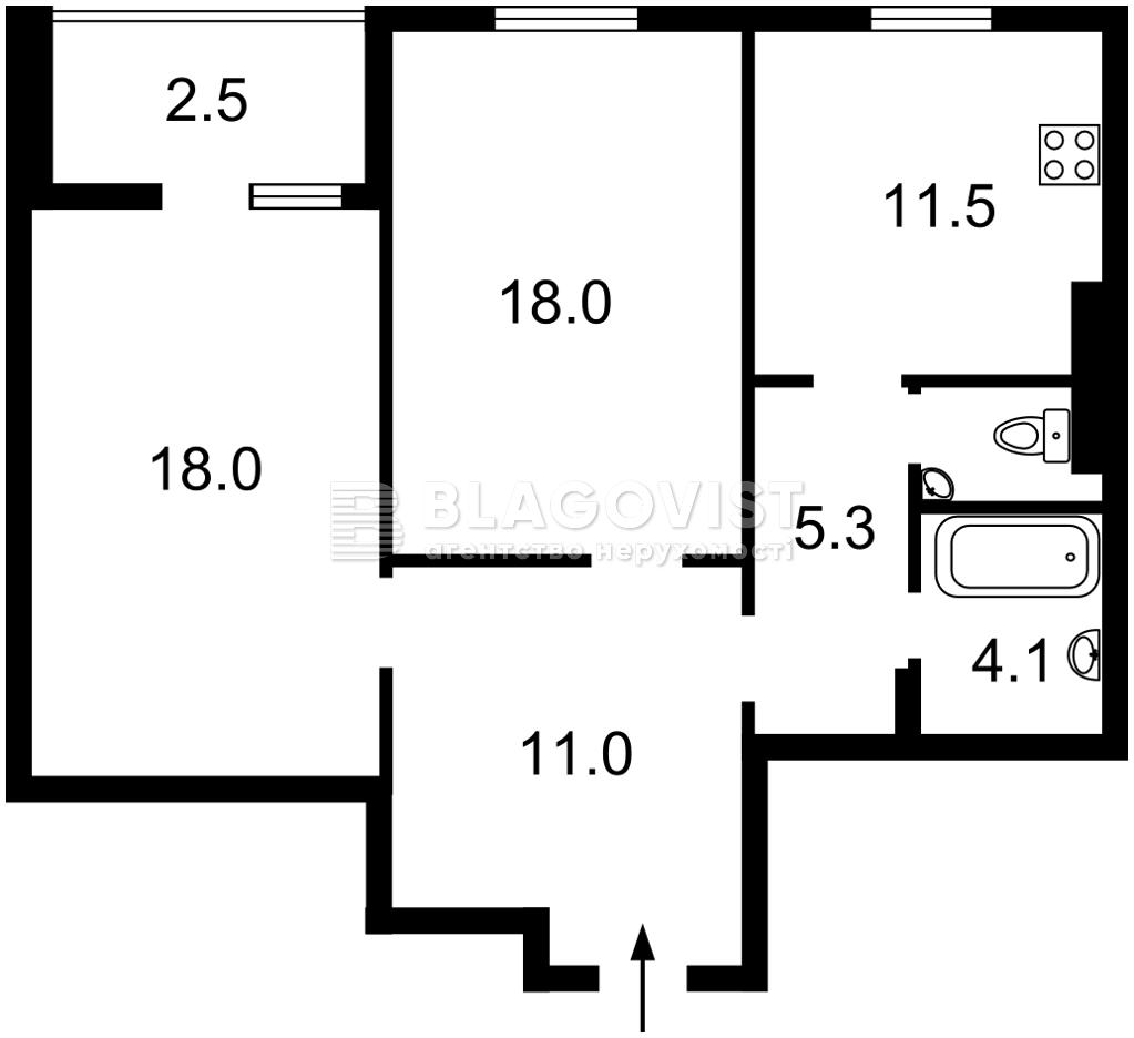 Квартира A-112426, Данченко Сергея, 5, Киев - Фото 4