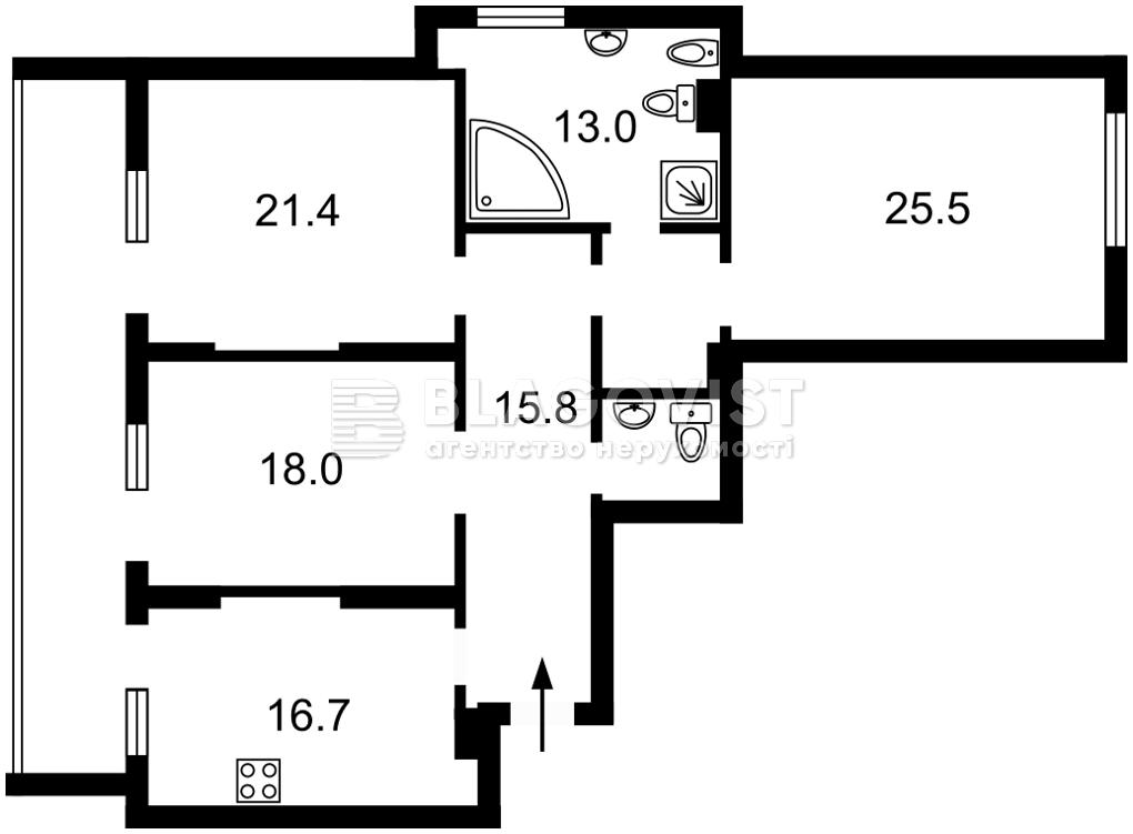 Квартира M-39110, Лейпцигская, 13а, Киев - Фото 4