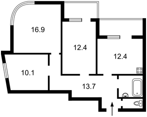 Квартира Радченка П., 27-29 корпус 3, Київ, Z-783044 - Фото2