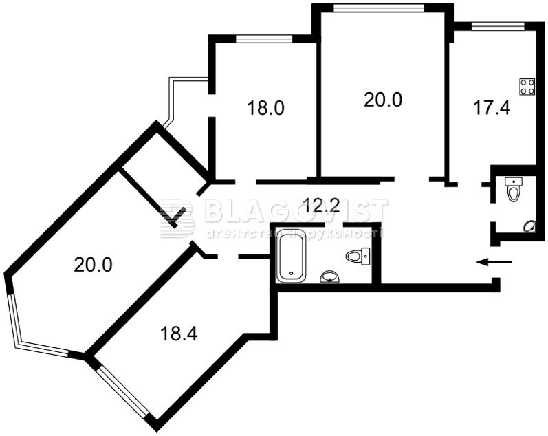Квартира D-37267, Срибнокильская, 1, Киев - Фото 6