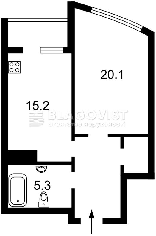 Квартира A-112445, Никольско-Слободская, 3а, Киев - Фото 5