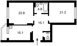 Квартира Мишуги О., 8, Київ, C-109652 - Фото2