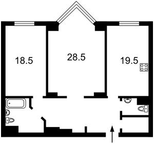Квартира Драгомирова Михаила, 14а, Киев, Z-783213 - Фото2