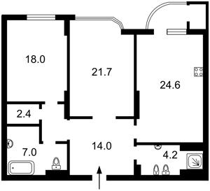 Квартира Z-788663, Лабораторный пер., 6, Киев - Фото 6