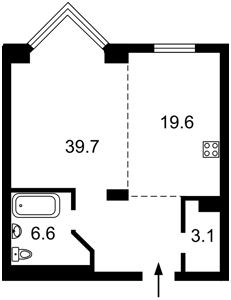 Квартира Драгомирова Михаила, 14а, Киев, Z-796857 - Фото2