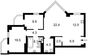 Квартира Курська, 13е, Київ, R-39977 - Фото2