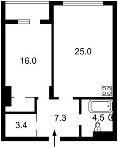 Квартира Драгомирова Михаила, 11б, Киев, Z-797968 - Фото2