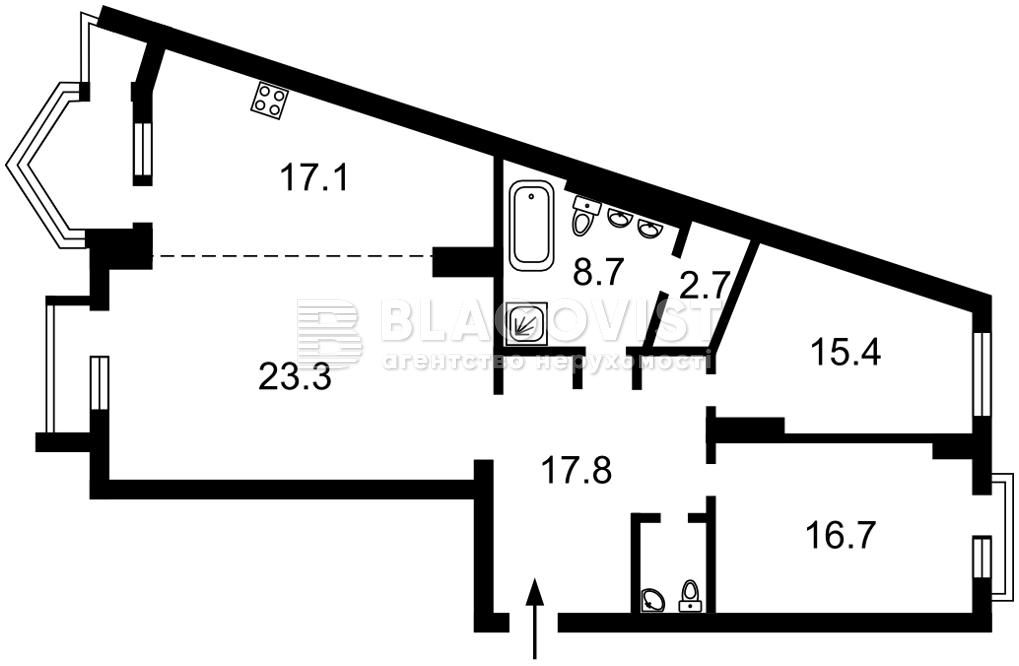 Квартира R-39963, Хмельницкого Богдана, 58а, Киев - Фото 3