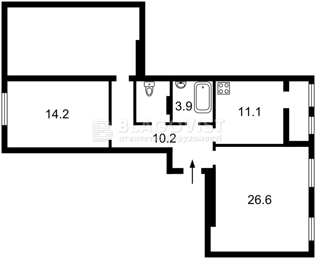 Квартира F-45237, Соборности просп. (Воссоединения), 17 корпус 2, Киев - Фото 4