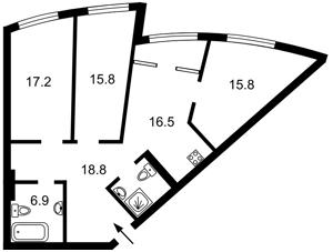 Квартира Глубочицкая, 43 корпус 1, Киев, A-112406 - Фото2