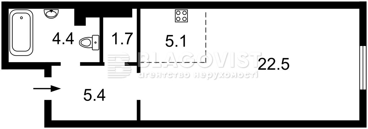 Квартира E-41328, Максимовича Михаила (Трутенко Онуфрия), 24б, Киев - Фото 5