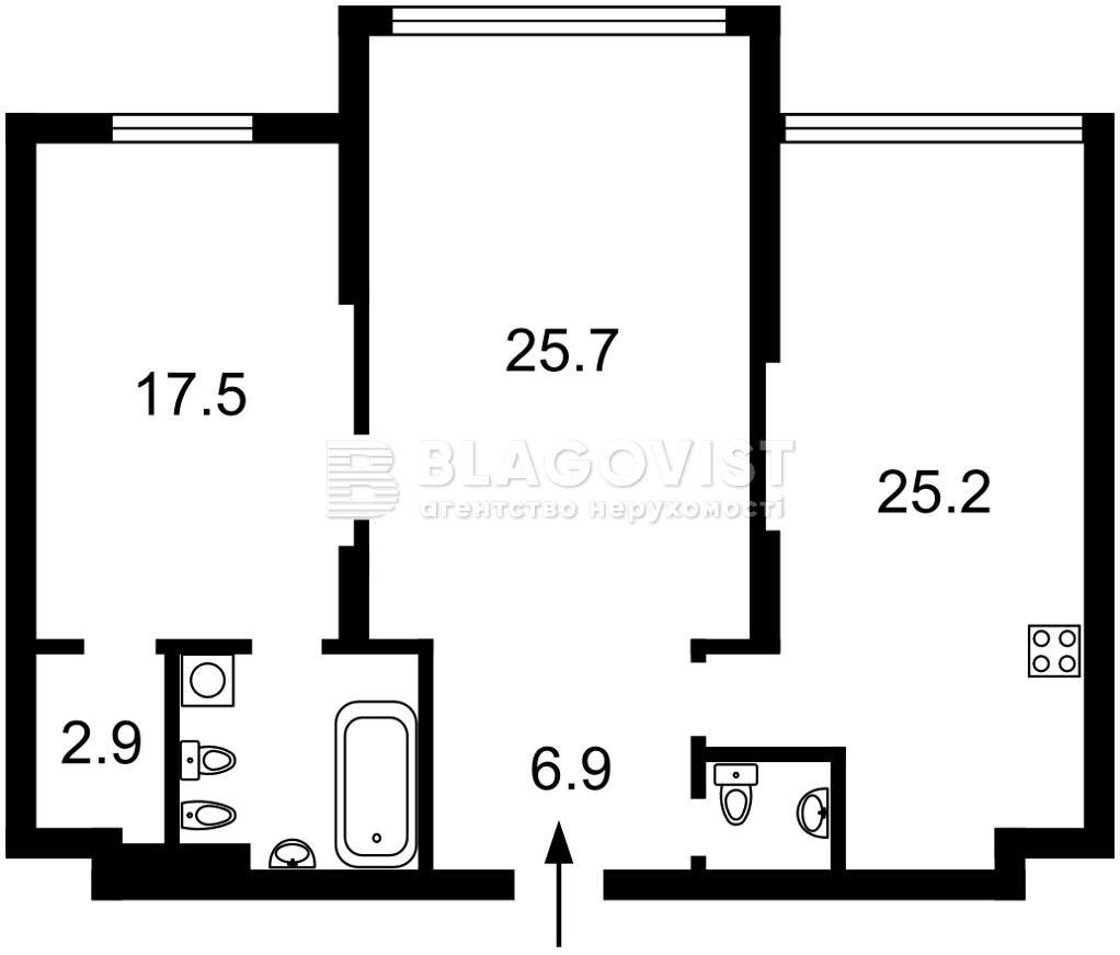 Квартира H-50571, Оболонский просп., 26, Киев - Фото 6