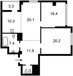 Нежилое помещение, Драгомирова Михаила, Киев, C-109801 - Фото2