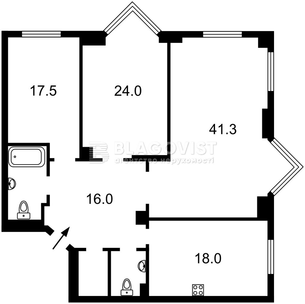 Квартира A-112554, Драгомирова Михаила, 14а, Киев - Фото 6