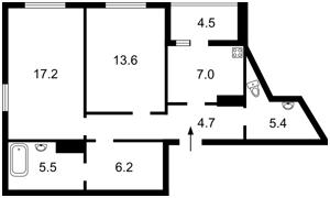 Квартира Ломоносова, 85б, Киев, Z-805577 - Фото2