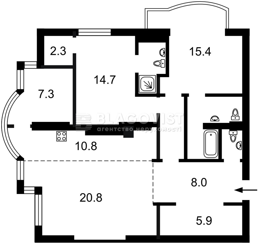 Квартира E-41386, Жилянская, 118, Киев - Фото 5