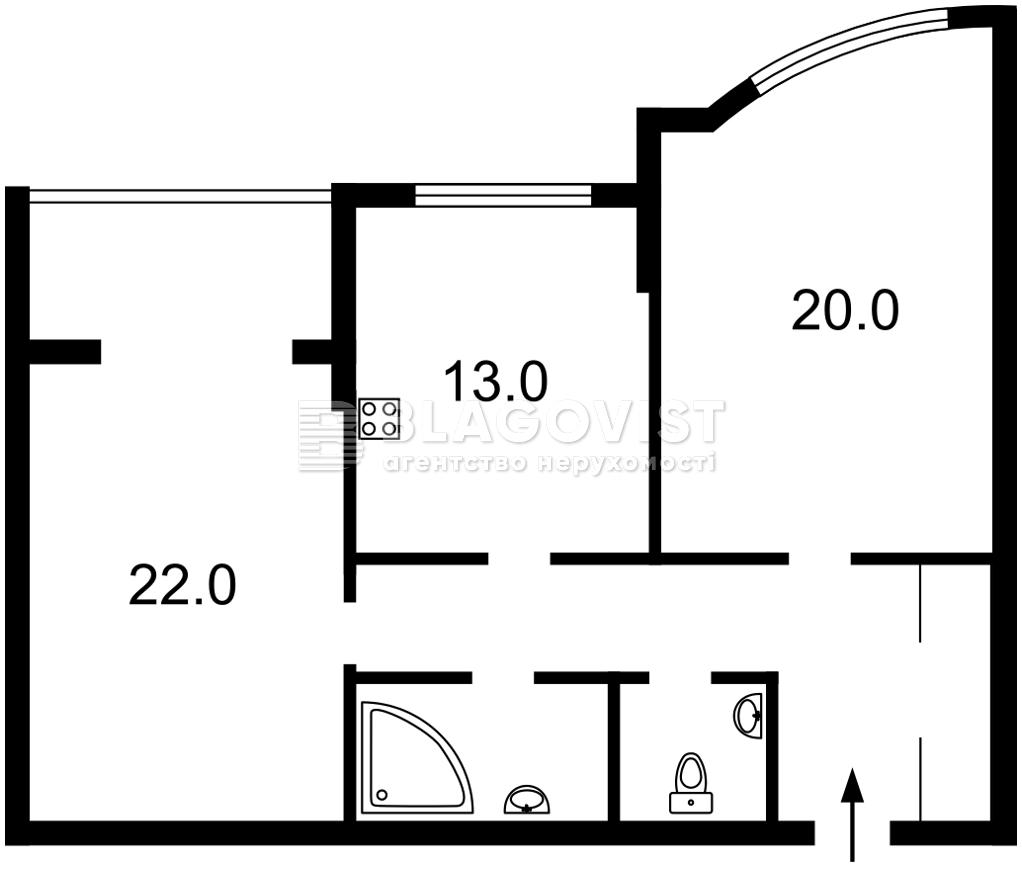 Квартира F-45334, Голосеевский проспект (40-летия Октября просп.), 130/57, Киев - Фото 5